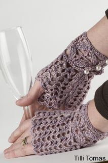 Textured Fingerless Gloves or Arm Warmer - Free Crochet Pattern