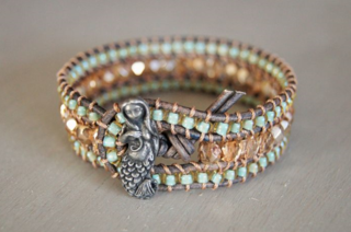 Mermaid leather cuff